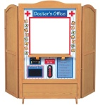 Guidecraft 4 in 1 Dramatic Play Theater - Doctor's Office