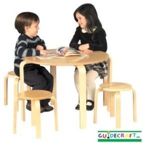 Guidecraft Nordic Table & Stool Set - Natural